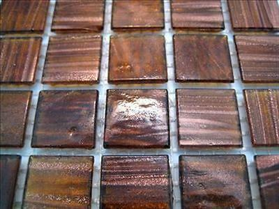 75 Tile Sheet Beautiful Golden Turquoise Gold Dust  20mm Mosaic Tiles