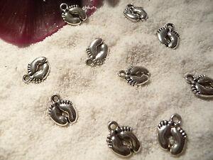 41020 Anhänger Babyfüßchen Silber Baby Schmuck Taufe Geburt Fuß