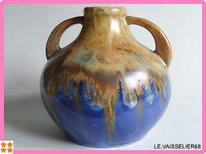 UN ANCIEN VASE EN GRES FLAMME DE METENIER - France - Type: Vase - France