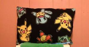 Pokemon Black and Blue Fleece Pillow