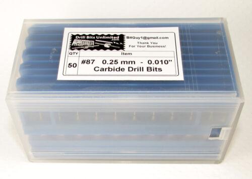 "#87   .010/""   0.25mm 50 Solid Carbide Drill Bits"