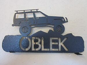 Lifted Jeep Cherokee >> Details About 2 Side Lifted Jeep Cherokee Mailbox Topper Name Textured Black Powder Coat