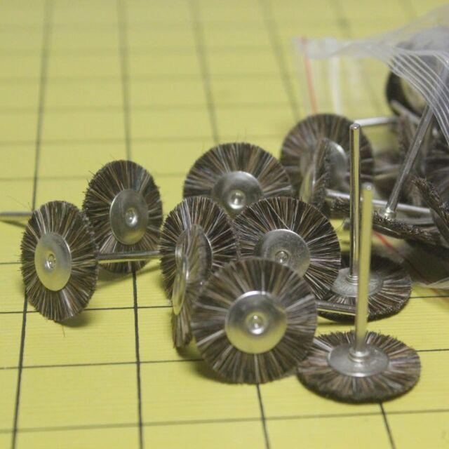 10 Pcs Dental Lab Jewellery Metal beads Ring Horse hair rotary polishing disc DE