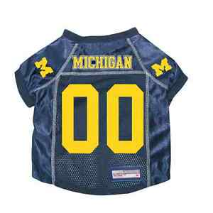 NEW-MICHIGAN-WOLVERINES-DOG-PET-PREMIUM-JERSEY-w-NAME-TAG-ALL-SIZES-LICENSED