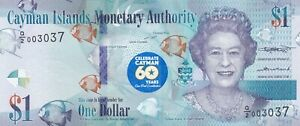 Cayman-Islands-Banknote-2020-UNC-1-60-years-Constitution-Pick-NEW-QE-II