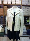 Giacca donna vera Pelle Bianca tg. 44 Made in Italy