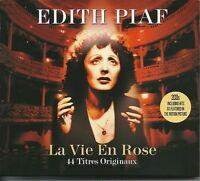 EDITH PIAF LA VIE EN ROSE - 2 CD BOX SET - RIEN DE RIEN, MILORD & MANY MORE