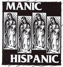 MANIC HISPANIC black mary flag CLOTH PATCH sew-on punk Free Shipping Everywhere!