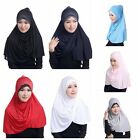Women's Muslim Inner Hijab Caps Islamic Soild Full Cover Hats Islamic Underscarf