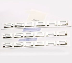 3x OEM Chrome 3500HD Nameplates EMBLEMS Badges Silverado Sierra Front rear FU Decals/Emblems/Licence Frames Automotive