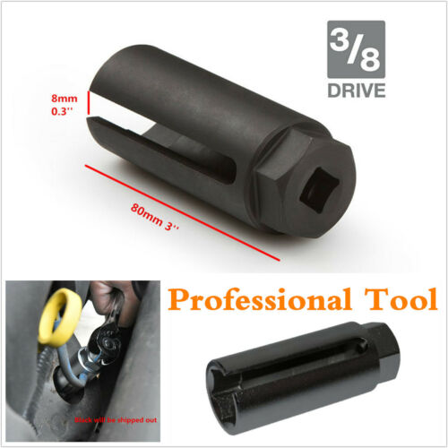 Black 7//8/'/' 22mm Auto Car Oxygen Sensor 3//8/'/' 10mm Drive Socket O2 Removal Tool