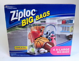 Details About Ziploc Bags 4 X Large 10 Gallon Size With Expansion Bottom Per Box