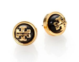 Image Is Loading Nwt Tory Burch Melos Stud Logo Earrings In