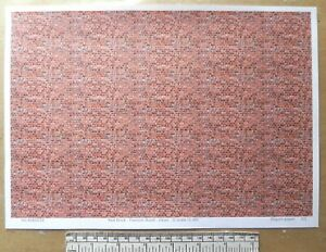Details about O gauge (1:48 scale) red brick paper - A4 sheet