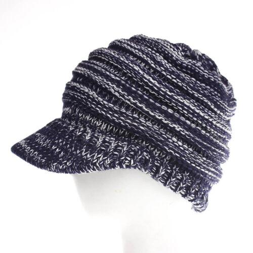 Femmes Hommes Laine Tricot Cap-Baggy Beanie Ski flou Cap Hiver chaud chapeaux