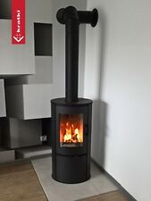 Contemporary Woodburning Stove Stoves Wood Burner Curved Style Modern Log