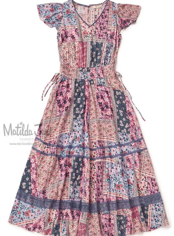 New Matilda Jane Camp MJC Wildlife Maxi Dress Womens Size XL NWT RV