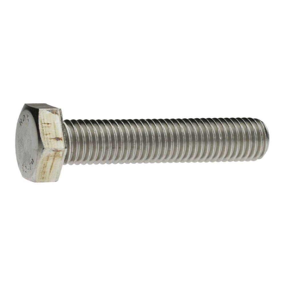 10x DIN 933 Sechskantschraube mit Gewinde bis Kopf M 24 x 130 A2 blank   | Hochwertige Materialien