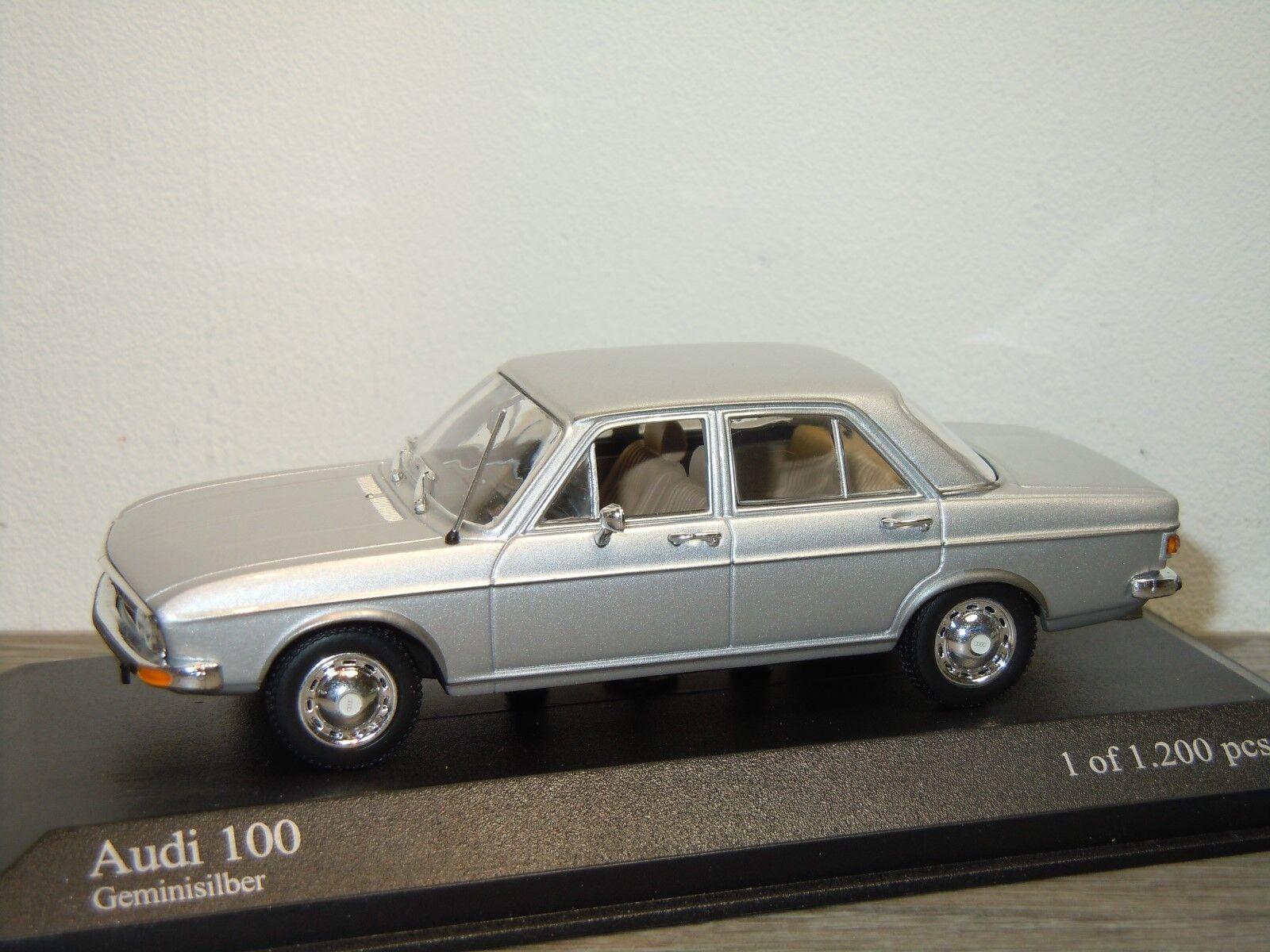 Audi 100 Saloon 1969-75 - Minichamps 1 43 in Box 34332