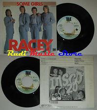LP 45 7'' RACEY Some girls Fighting chance 1979 germany RAK 006-62 530 cd mc dvd