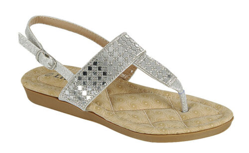 New Girls Youth Kids Glitter Casual Open Toe Buckle Strap Sandals Shoes