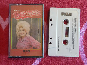 DOLLY PARTON Best Of CASSETTE TAPE RCA 1975 First Pressing COUNTRY Jolene