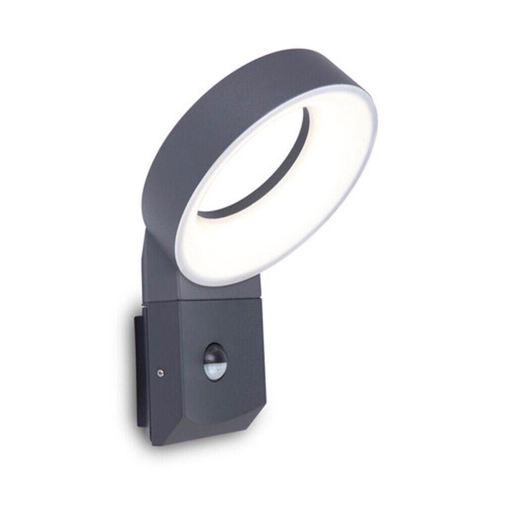 Lutec Meridian Led-Lampe de Mur avec Détecteur de Mouvement IP54 800lm Anthracit