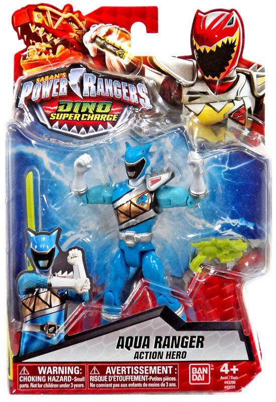 Power Rangers Aqua Ranger Figure Dino Super Charge 12 cm .