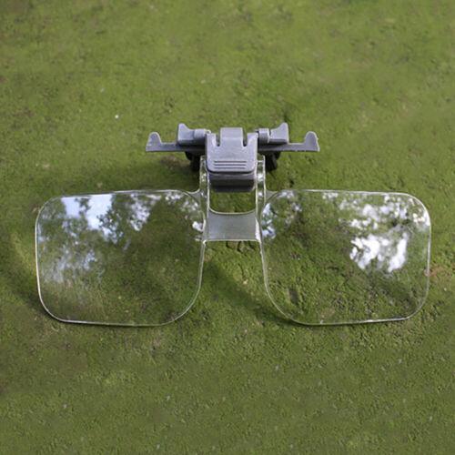 Brille Vergrößerungsglas 2-fach Acrylglas Mit Clip Schmuck Reparatur Zeitung