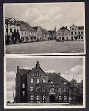 96875 2 AK Mühlhausen Ostpreußen um 1935 Pr. Holland Stadtschule Markt Bäckerei