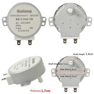 Mikrowelle Oven Synchronous Turntable Motor Für Galanz SS-5-240-TD H AC220V 17mm