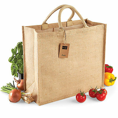 Westford Mill High Quality Jute Hessian Shopping Gift Grocery Bags - Wholesale