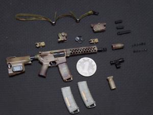 1 6 Scale Soldier Weapon Model FBI HRT M4 Set Carbine Assault Rifle Gun