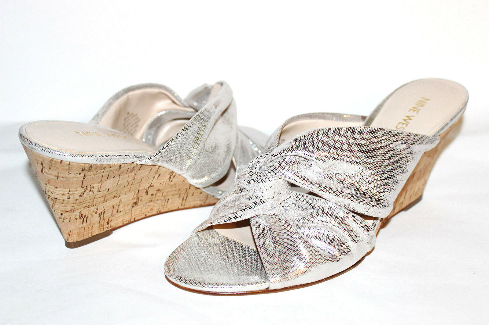 ✿ NINE WEST Kessie Knotted Silver Leder 3