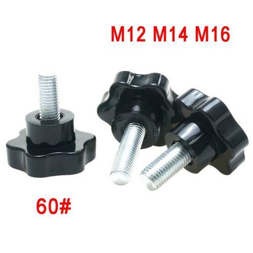 60# Sterngriff Schraube M12 M14 M16 Kreuzgriff Klemmschraube Sternschraube Black