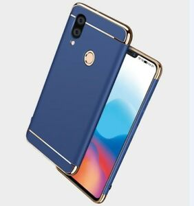 brand new 19c5f b06f0 Details about For Huawei Y9 2019 Slim Case Luxury Electroplate Hard Back  Cover +Tempered glass