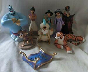 Disney-Store-Aladdin-PVC-Figure-Lot-Aladdin-Jasmine-Genie-Jafar-Abu