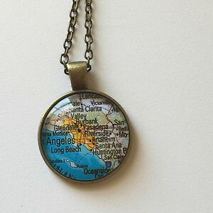 Glendale long beach los angeles california map pendant necklace la foto se est cargando glendale long beach los angeles california mapa colgante aloadofball Image collections