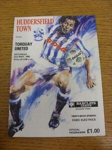02051992 Huddersfield Town v Torquay United - Birmingham, United Kingdom - 02051992 Huddersfield Town v Torquay United - Birmingham, United Kingdom