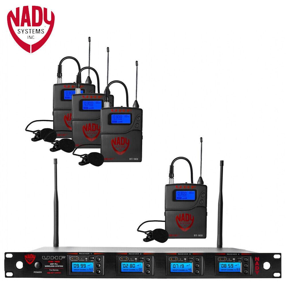 Nady 4W-1KU LT Quad True Diversity 1000-Channel Professional UHF Wireless System