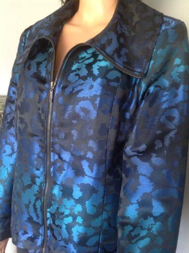 Shimmer Down Erin Fashion Black pour Stylish Veste Designer Blue habillée Zipper femme fw1xqqIHa