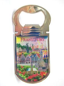 Frankfurt-Roemer-Skyline-Metall-Flaschenoeffner-Magnet-9-5-cm-Souvenir-Germany