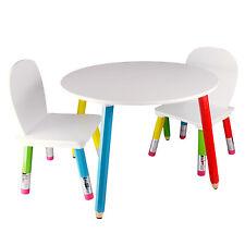Bleistift Kinderstuhl Kindertisch Bleistift Kindersitzgruppe mit Tisch 2 Stühlen