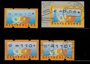 Deutschland Realistisch Bundesrepublik Deutschland Automatenmarke 1999 4 Gesempelte Elegantes Und Robustes Paket Briefmarken