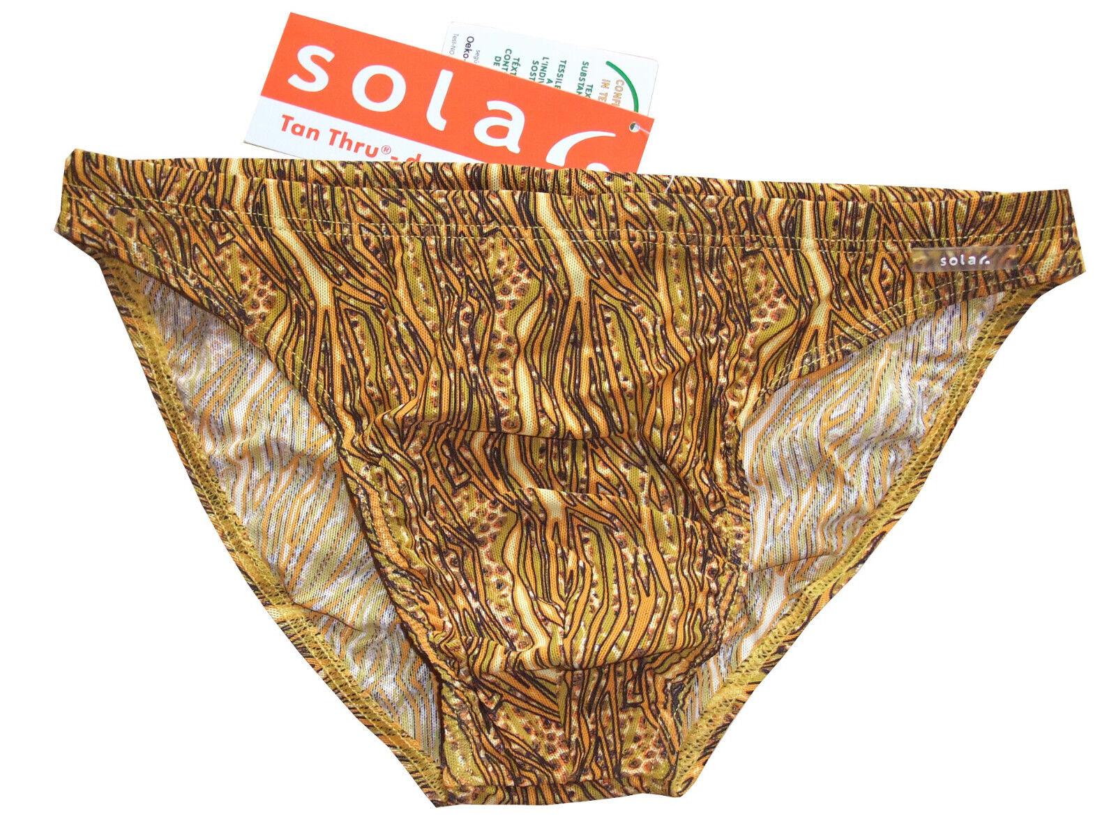 Tan Thru Badehose Slip in Gr. 4, 7 durchbräunend NEU Solar yellow