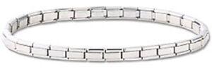 24-Italian-Charm-Bracelets-Wholesale-Lot-Stainless-Steel-4-mm-Silver-Links