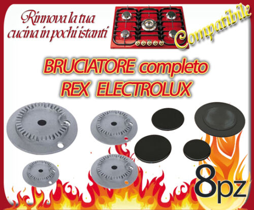 KIT SPARTIFIAMMA E BRUCIATORI CUCINA REX ZANUSSI ELECTROLUX ZOPPAS B 4455 S 4455