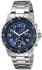 Invicta Reloj Silver Plata Steel Bracelet Crystal Hand Pulsera Hombre Watch Man