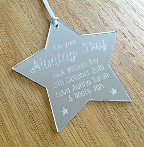 Personalised Gifts For Naming Day Him Her Girl Boy Baby Star Decoration Gift Box