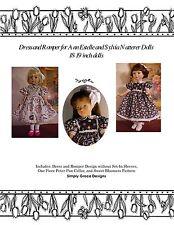 18-19 Inch Doll ClothesPattern - Dress & Romper - Ann Estelle - Sylvia Natterer